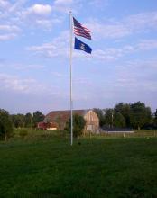 15 ft. x 3 in. x .125 in Aluminum Flagpole