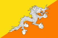 BHUTAN Nylon Country Flag
