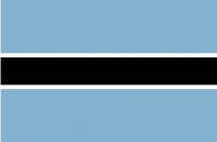 BOTSWANA Nylon Country Flag