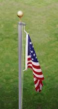"""21' x 2"""" Aluminum Sectional Flagpole"""