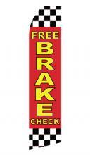 Free Brake Check Feather Flag